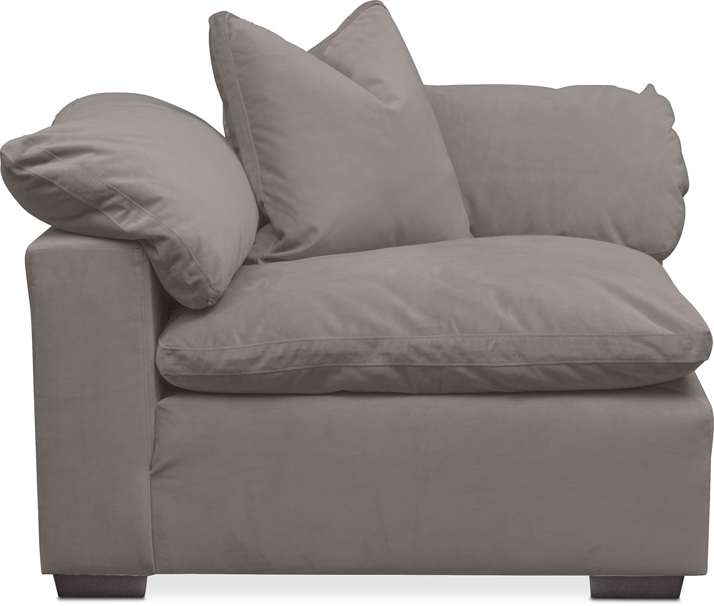 Living Room Furniture   Plush Corner Chair   Abbington Fog