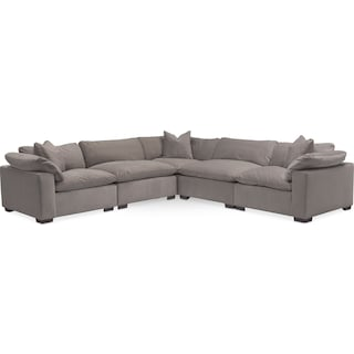 Plush 5-Piece Sectional - Abbington Fog