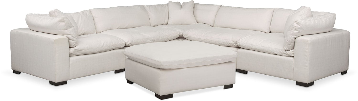 Plush 6-Piece Sectional - Ivory