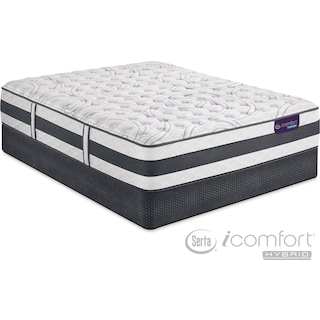Applause II Firm Queen Mattress and Split Foundation Set