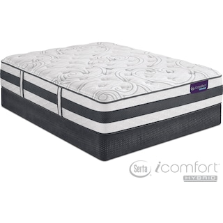 Applause II Plush Queen Mattress and Low-Profile Foundation Set