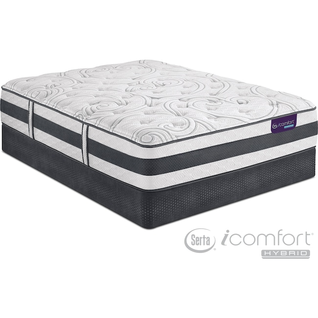 Mattresses and Bedding - Applause II Plush Twin Mattress and Foundation Set