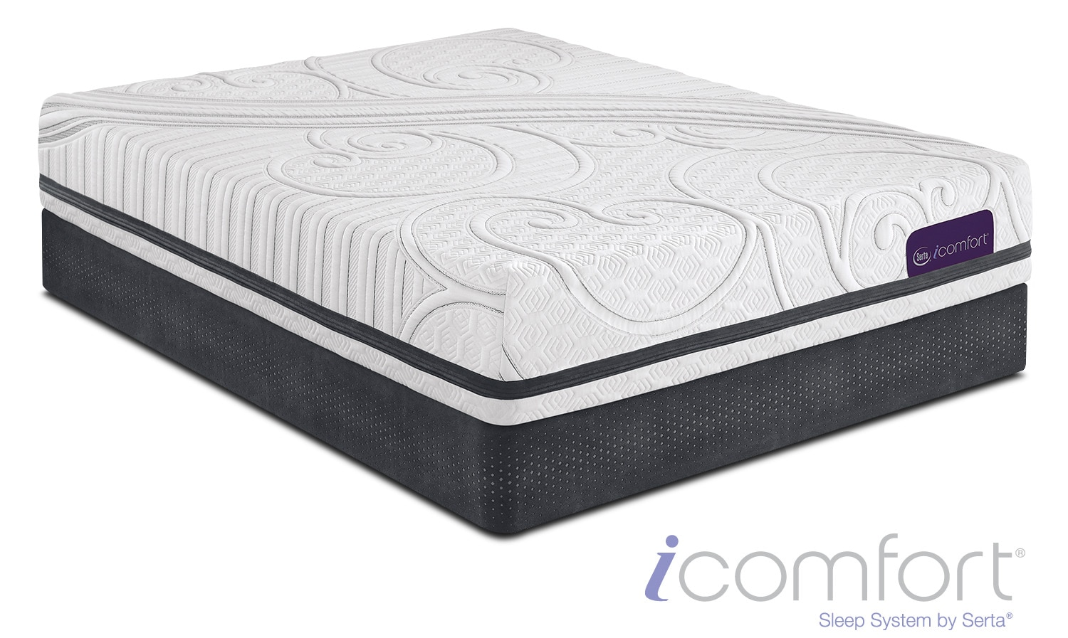 Savant III Plush King Mattress and Split Low-Profile Foundation Set
