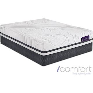 Savant III Plush Queen Mattress and Split Foundation Set