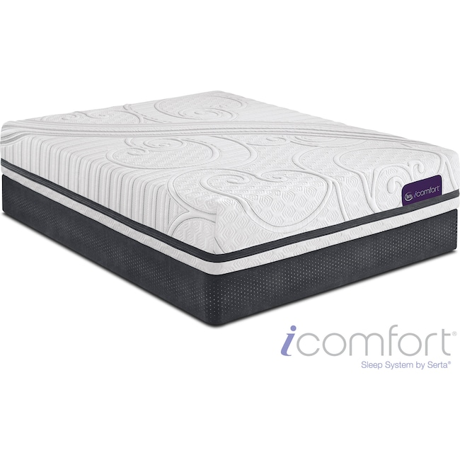 Mattresses and Bedding - Savant III Plush Queen Mattress and Split Foundation Set