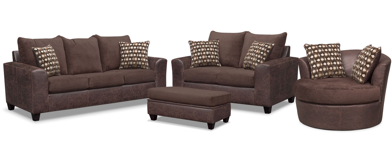 The Brando Living Room Collection - Chocolate