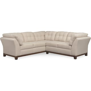 Sebring 2-Piece Sectional with Right-Facing Loveseat - Oyster