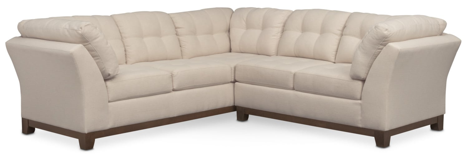 Living Room Furniture - Sebring 2-Piece Sectional with Right-Facing Loveseat - Oyster  sc 1 st  Value City Furniture : value city furniture sectionals - Sectionals, Sofas & Couches