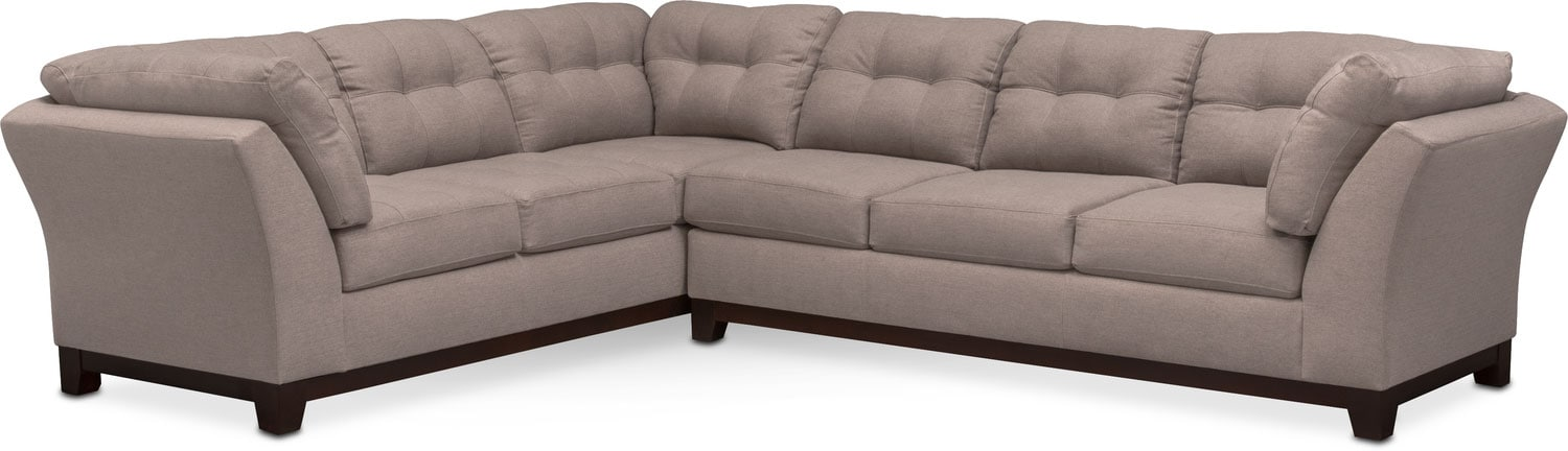 The Sebring Sectional Collection - Smoke  sc 1 st  Value City Furniture : value city furniture leather sectional - Sectionals, Sofas & Couches