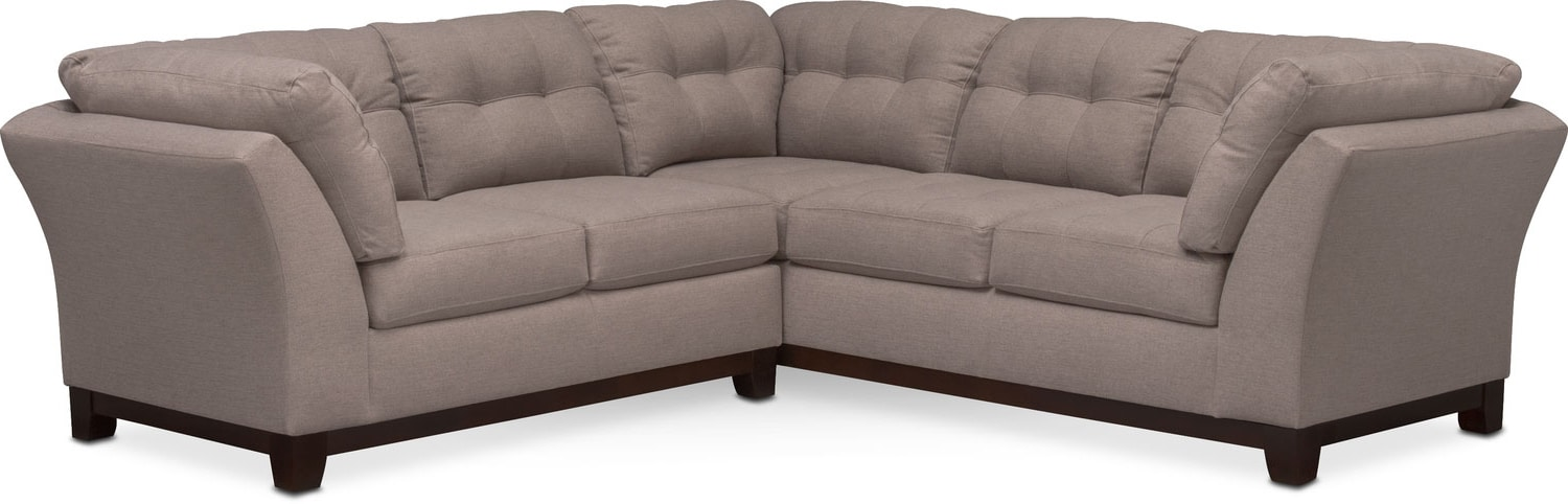 living room furniture sebring 2piece sectional with leftfacing loveseat smoke - 2 Piece Sectional