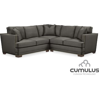 Arden Cumulus 2-Piece Sectional with Left-Facing Loveseat - Stately L Sterling