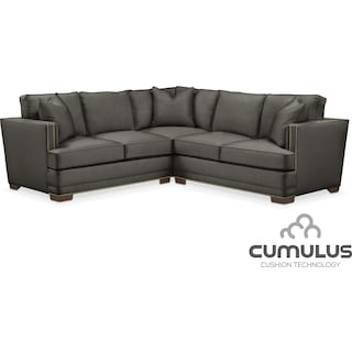 Arden Cumulus 2-Piece Sectional with Right-Facing Loveseat - Stately L Sterling