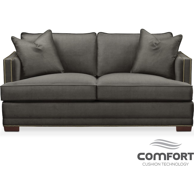 Living Room Furniture - Arden Comfort Apartment Sofa - Sterling