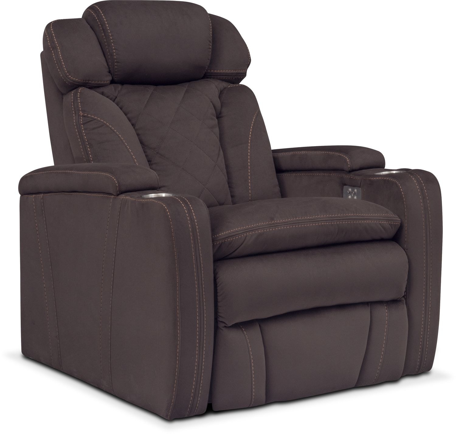 Living Room Furniture - Fiero Power Recliner - Godiva