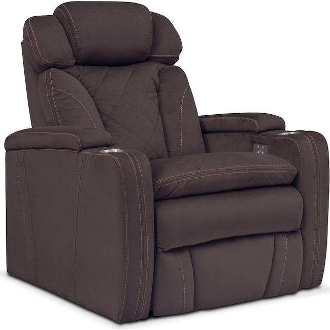 Living Room Furniture - Fiero Power Recliner - Godiva