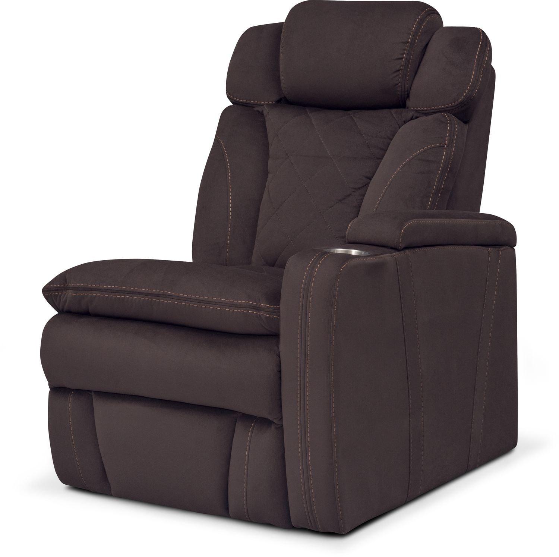 Living Room Furniture - Fiero Right-Facing Power Recliner - Godiva