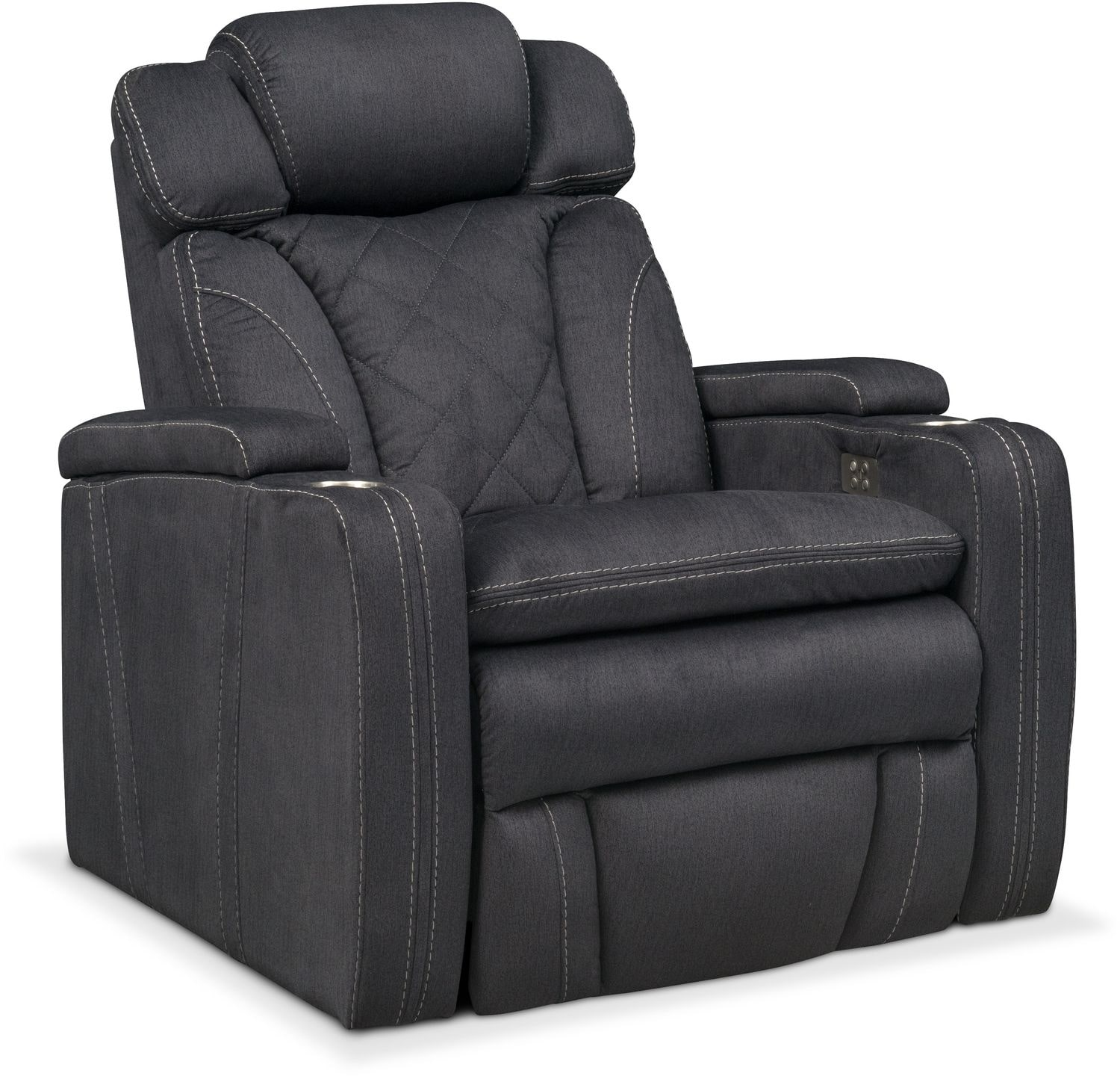 Fiero Power Recliner Charcoal Value City Furniture And