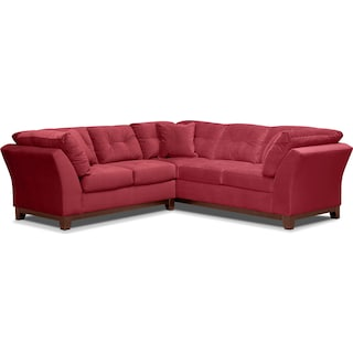 Sebring 2-Piece Sectional with Left-Facing Loveseat - Poppy