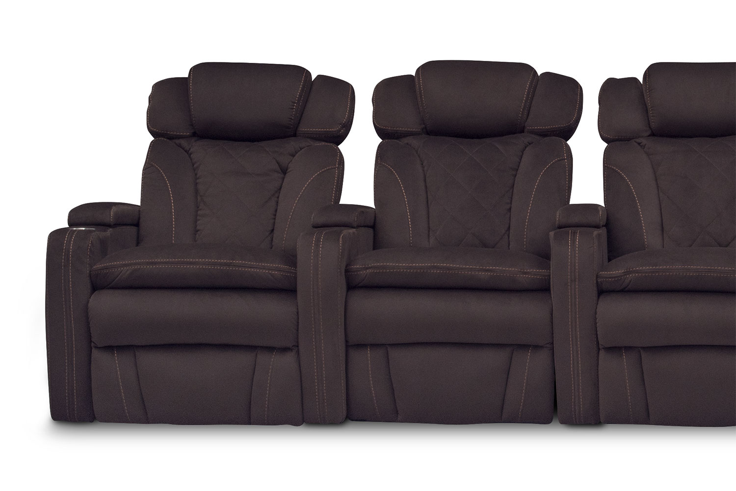 Fiero 5 Piece Power Reclining Home Theater Sectional