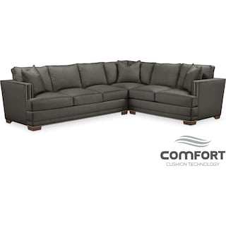 Arden Comfort 2-Piece Sectional with Left-Facing Sofa - Stately L Sterling
