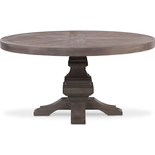 Lancaster Round Wood Top Table - Parchment