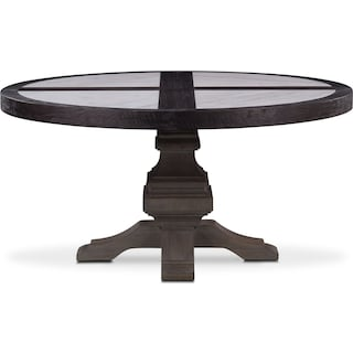 Lancaster Round Marble Top Table - Truffle with Parchment Base