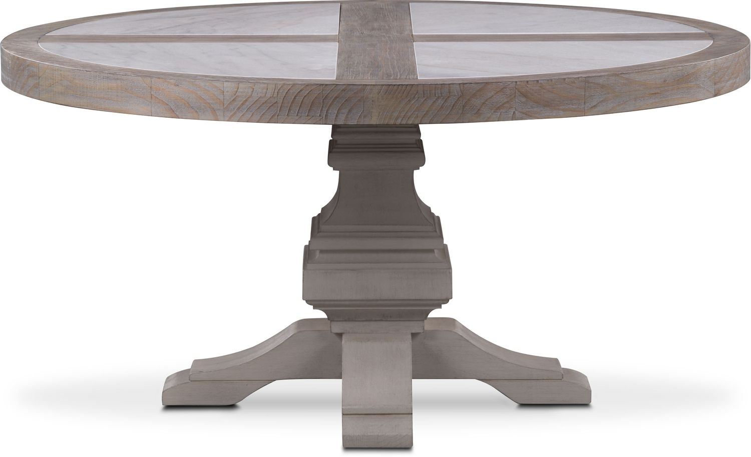 Lancaster round marble top table parchment with water