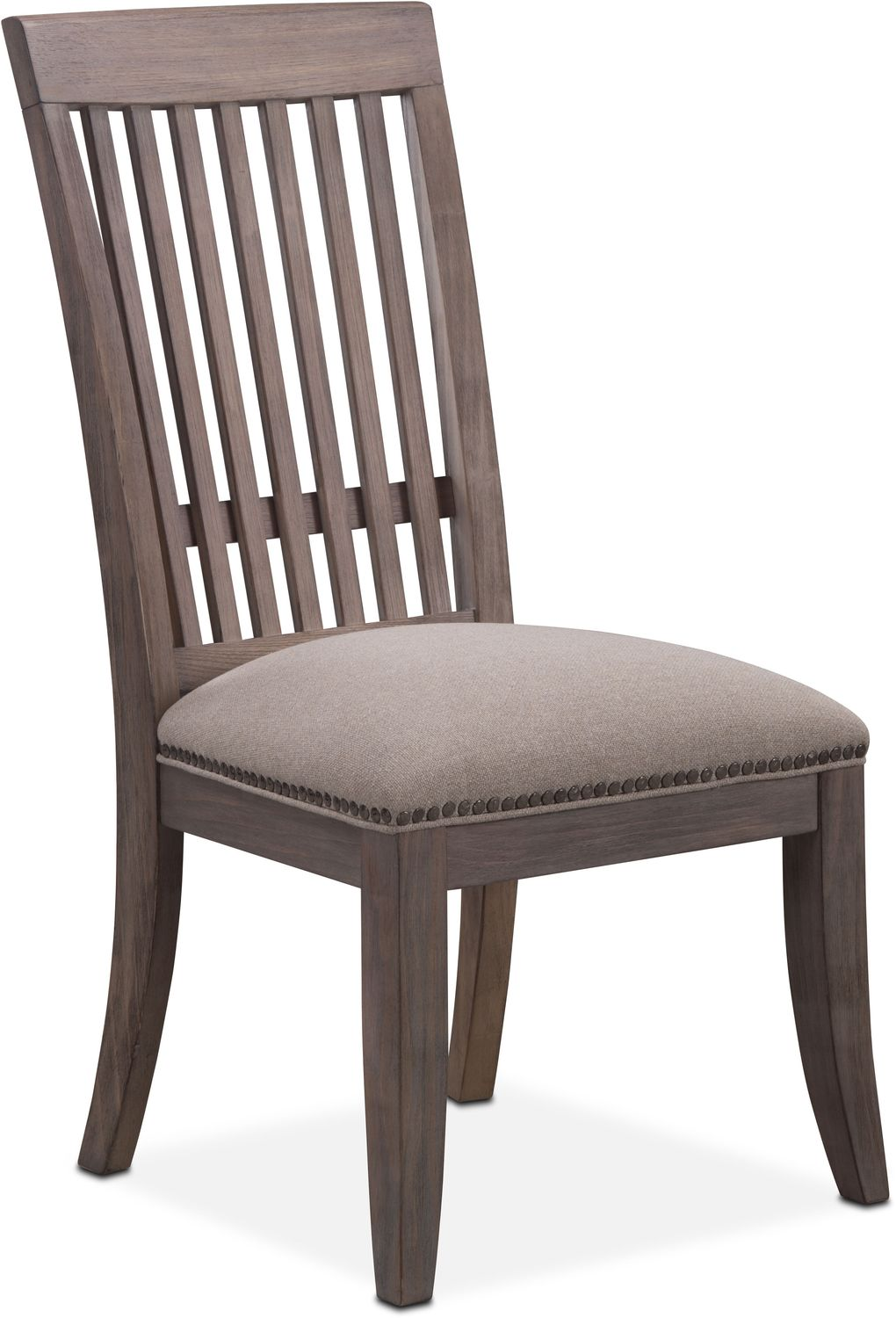 Slatted Back Chairs ~ Lancaster slat back chair parchment value city