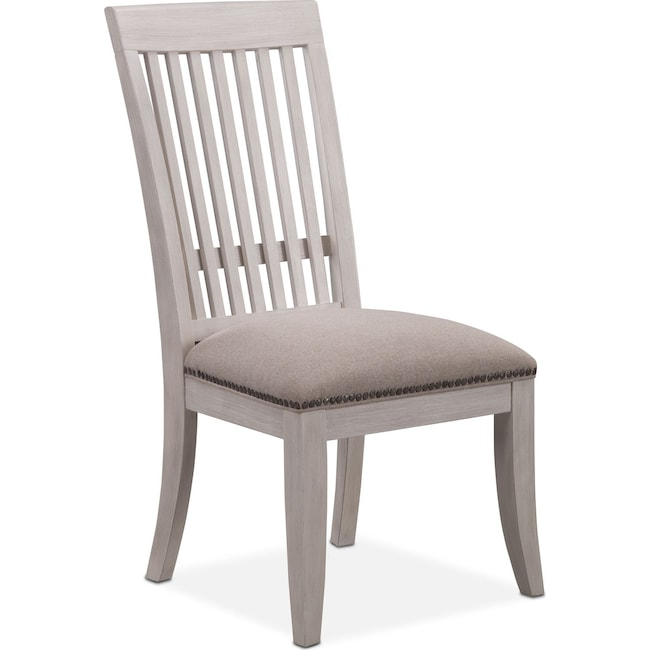 Dining Room Furniture - Lancaster Slat-Back Chair - Water White