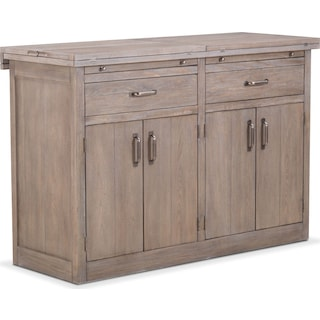 Lancaster Sideboard with Casters - Parchment