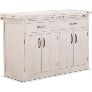 Lancaster Sideboard with Casters - Water White