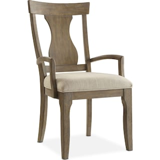 Lancaster Splat-Back Arm Chair - Parchment
