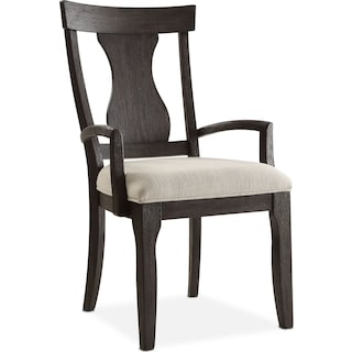 Lancaster Splat-Back Arm Chair - Truffle