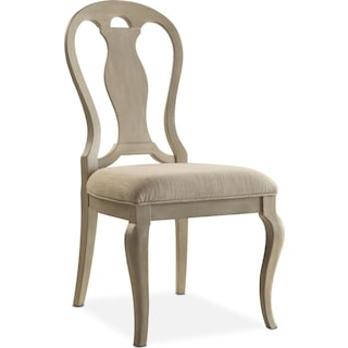 Lancaster Queen Anne Chair - Water White