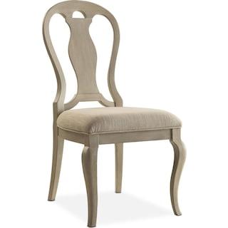 Lancaster Queen Anne Chair - Water White