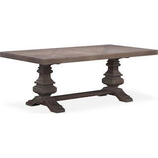 "Lancaster 82"" Wood Top Table"