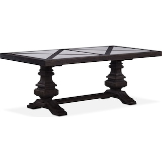 """Lancaster 80"""" Marble Top Table with Urn Base - Truffle"""