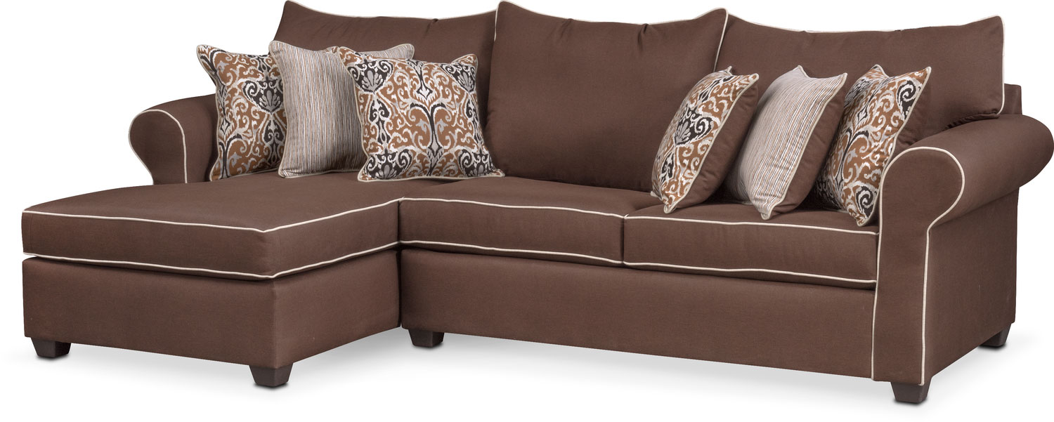 The Carla Sectional Collection - Chocolate