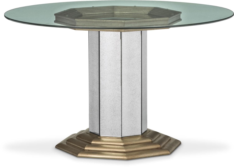 Dining Room Furniture - Angelina Round Table - Metallic