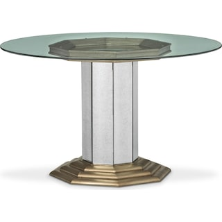 Angelina Round Table - Metallic