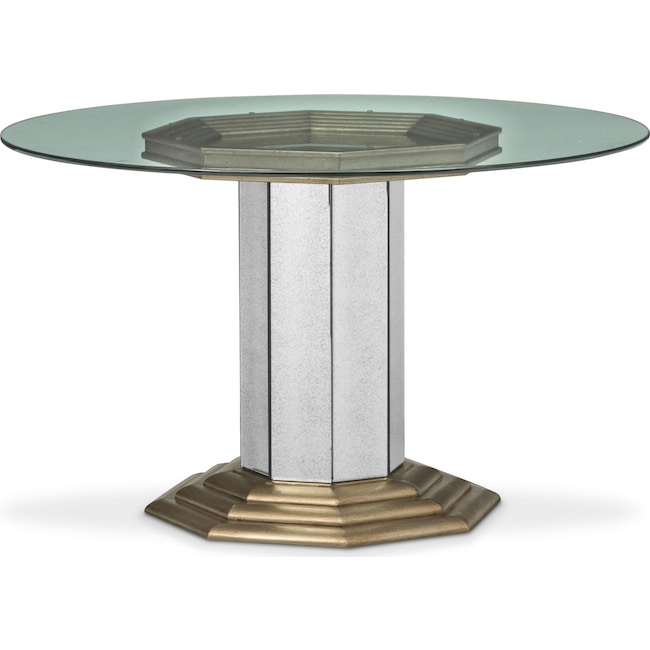 Dining Room Furniture - Angelina Round Table - Metallic