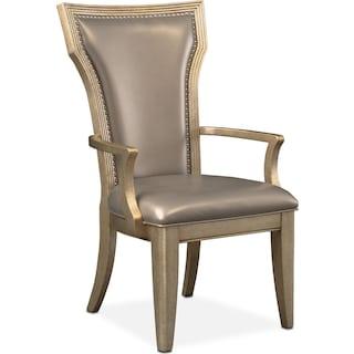 Angelina Arm Chair - Metallic