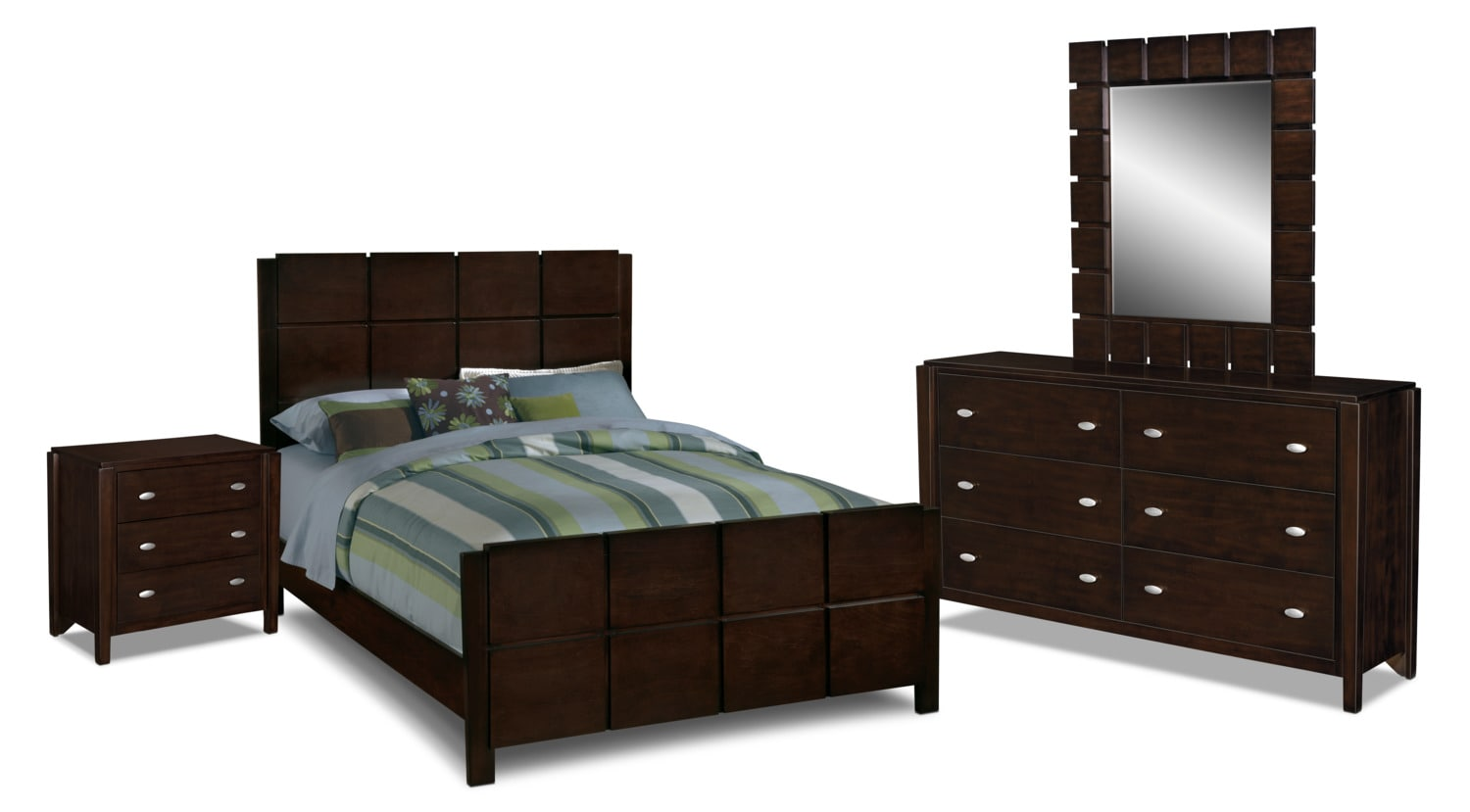 Bedroom Set Dark Brown Hover To Zoom