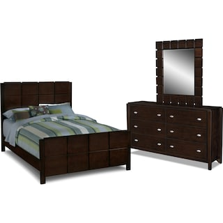 Mosaic 5-Piece Queen Bedroom Set - Dark Brown