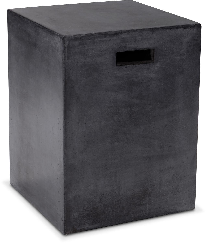 Block End Table - Black