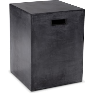 Block End Table - Black