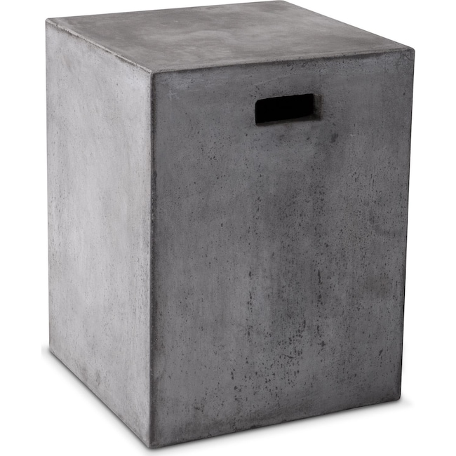 Accent and Occasional Furniture - Block End Table - Gray