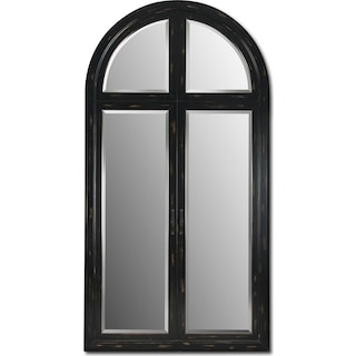 Black-Rubbed Floor Mirror