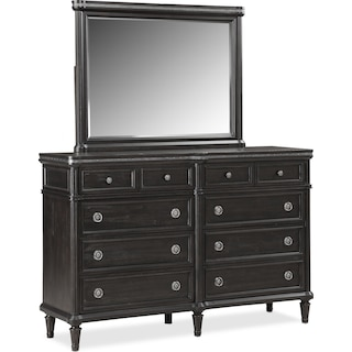 Berwick Dresser and Mirror - Charcoal