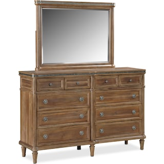 Berwick Dresser and Mirror - Natural